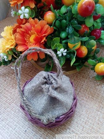 Плетеный мешочек ручной работы на заказ