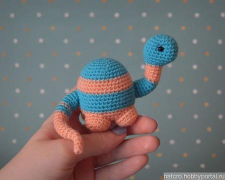 Маленький динозавр (бронтозавр) ручной работы на заказ