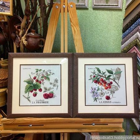 """Картина вышитая """"Ботанические этюды"""" ручной работы на заказ"""