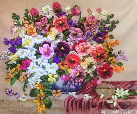 "Картина ""Цветы"" ручной работы на заказ"