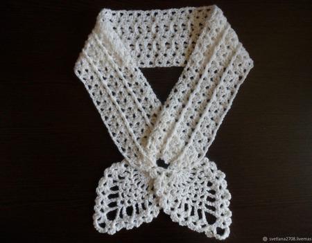 Ажурный шарфик ручной работы на заказ