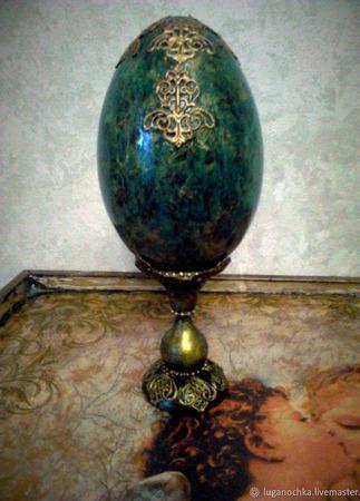 """Яйцо сувенирное """"Каменная сказка"""" ручной работы на заказ"""