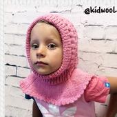 "Тёплая шапка шлем ""Малинка"""