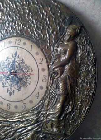 Часы настенные Лесная фея ручной работы на заказ