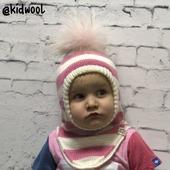 """Шапка шлем """"Розовые мечты"""" детская"""