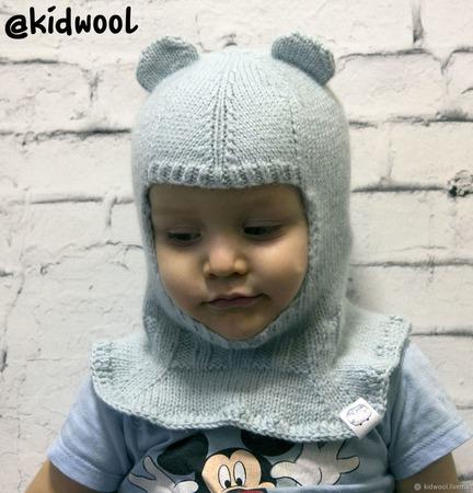 Шапка шлем для мальчика или девочки ручной работы на заказ