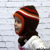 Шапка-шлем вязаная для мальчика