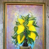 """Картина акрилом """"Лимонное дерево"""""""