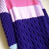 "Разноцветный кардиган ""BANDS"" ручной работы Knit by Heart"