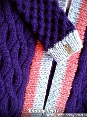 "Разноцветный кардиган ""BANDS"" ручной работы Knit by Heart ручной работы на заказ"