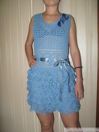 Платье крючком ручной работы на заказ