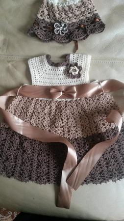 Детское платье с панамкой ручной работы на заказ