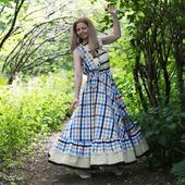 Платье в стиле бохо хлопковое