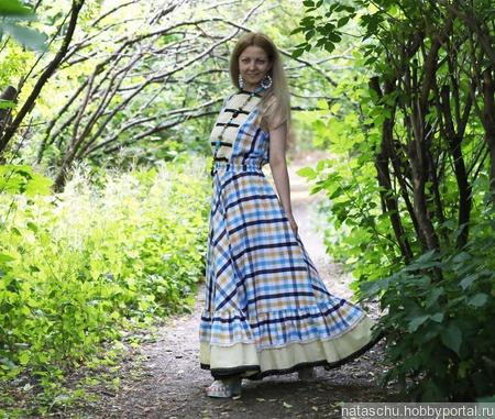 Платье в стиле бохо хлопковое ручной работы на заказ