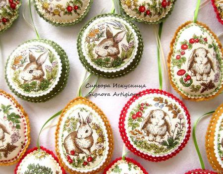 Мини набор Зайчики Пасха Весна ручной работы на заказ