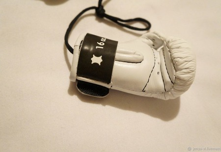 Перчатки Боксерские, сувенир, логотип,  подарок мужчине,23 февраля ручной работы на заказ
