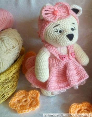 """Машенька в розовом из серии""""мишки Тедди"""" ручной работы на заказ"""