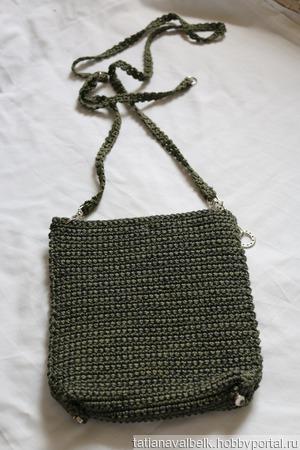 Вязаная сумка сумочка на длиной ручке ручной работы на заказ