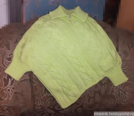 Пуловер-пончо ручной работы на заказ