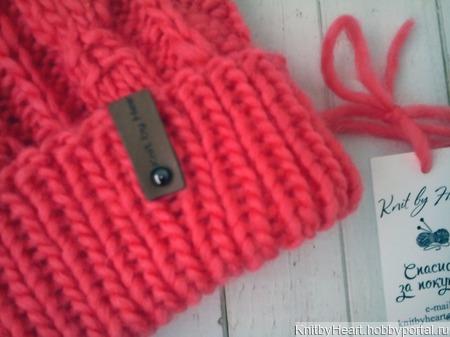 Модная вязаная шапка Knit by Heart крупной вязки ручной работы на заказ