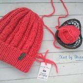 Модная вязаная шапка Knit by Heart крупной вязки