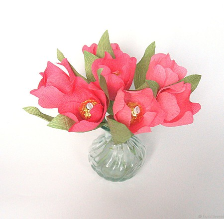 """Тюльпаны из конфет """"Весеннее настроение"""" ручной работы на заказ"""