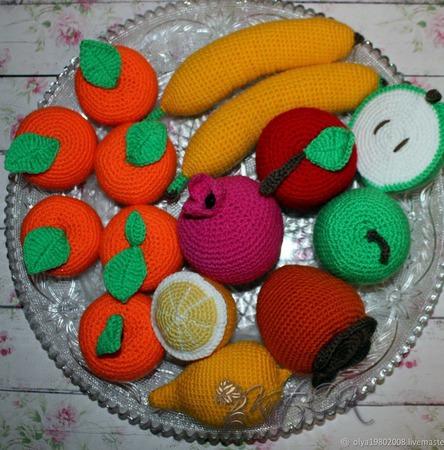 Ваза с фруктами ручной работы на заказ