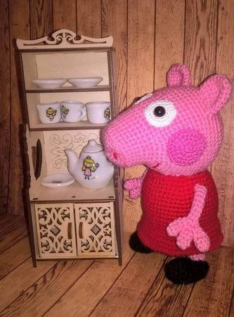 Свинка Пеппа и Джордж ручной работы на заказ
