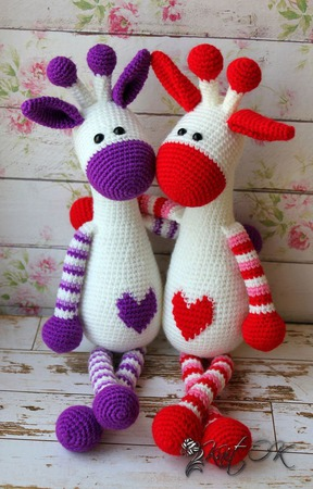 Сердечный жирафик) ручной работы на заказ