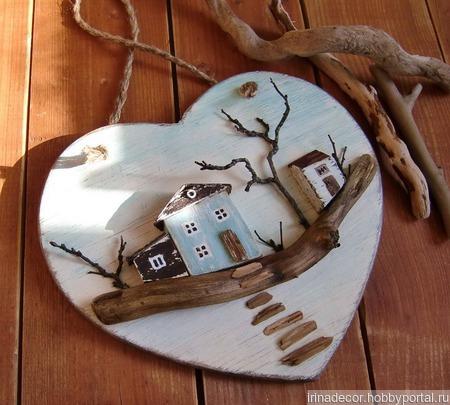 """Подвеска сердечко """"Дом, где всегда тебя ждут"""" ручной работы на заказ"""