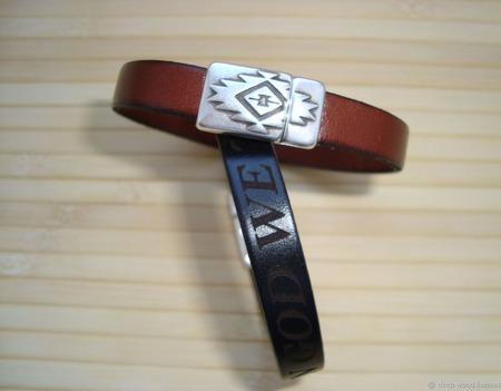 Кожаный браслет ручной работы на заказ