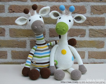 Жираф мягкая игрушка крючком ручной работы на заказ