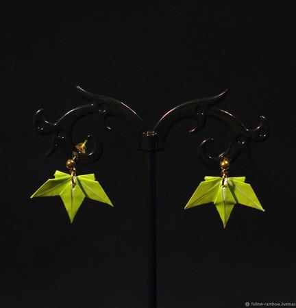 Серьги и клипсы (включая пусеты/гвоздики и серьги-висюльки) с кленовым ручной работы на заказ