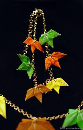 Набор украшений с кленовыми листьями ручной работы на заказ