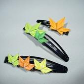 Заколки-невидимки с кленовыми листьями