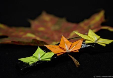 Заколки-невидимки с кленовыми листьями ручной работы на заказ