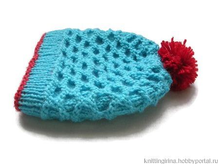 Весенняя шапочка для новорожденного ручной работы на заказ