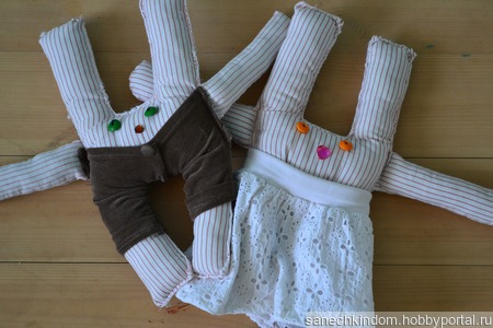 Текстильные кролики ручной работы на заказ