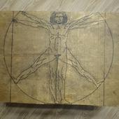 """Складной стол """"Витрувианский человек"""""""