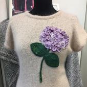фото: Одежда (вязаный пуловер из мохера)