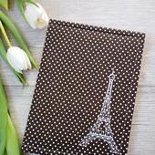 "Блокнот ""Париж"" коричневый"