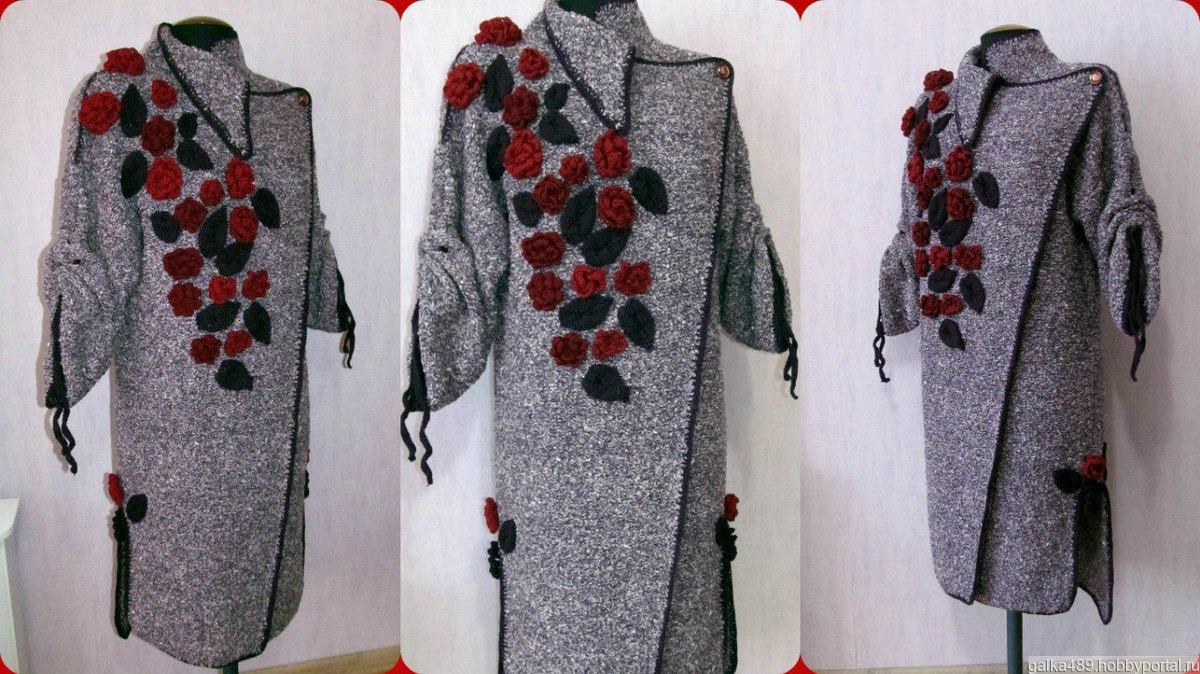 вязаное пальто бохо купить в интернет магазине Hobbyportalru с