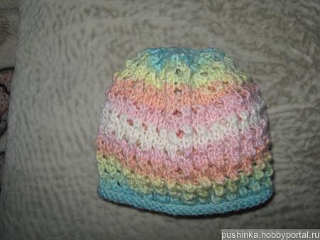 Ажурная шапочка для девочки ручной работы на заказ