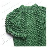 Вязаный свитер оверсайз из хлопка купить