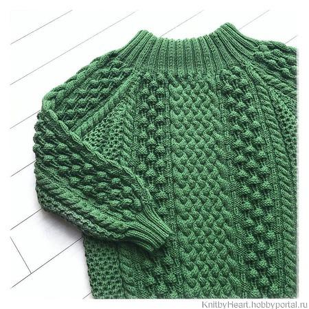 Вязаный свитер оверсайз из хлопка купить ручной работы на заказ
