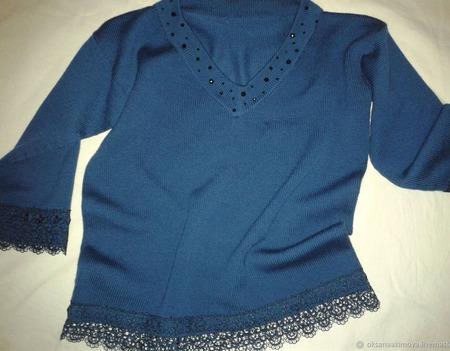 Пуловер вязаный ручной работы на заказ