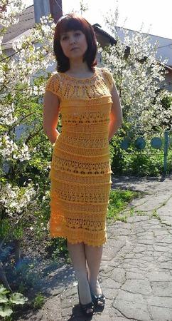 Платье вязаное ручной работы на заказ