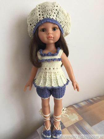 Летний костюм для куклы ручной работы на заказ