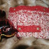 Вязаная сумка сумочка клатч плоская