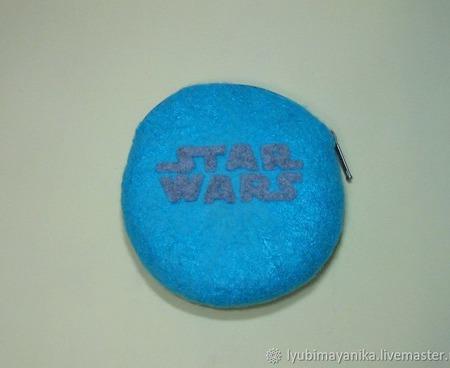"""Косметичка валяная """"Star Wars"""" ручной работы на заказ"""